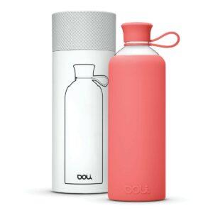 Doli Bottles • ökologische Trinkflasche aus Glas, rosa