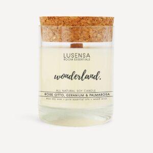 Naturduftkerze • Duftkerze im Glas aus Eco-Sojawachs - Rose & Geranie- von Lusensa