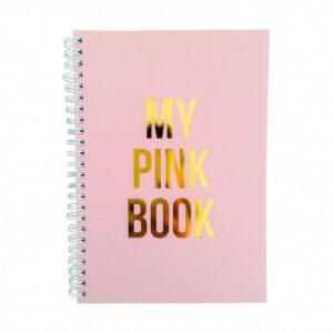 Notizbuch in zartem pink mit Goldaufdruck My pink book von Studio Stationery