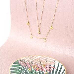 Hübsche vergoldete Halskette -Sparkle- von & anne