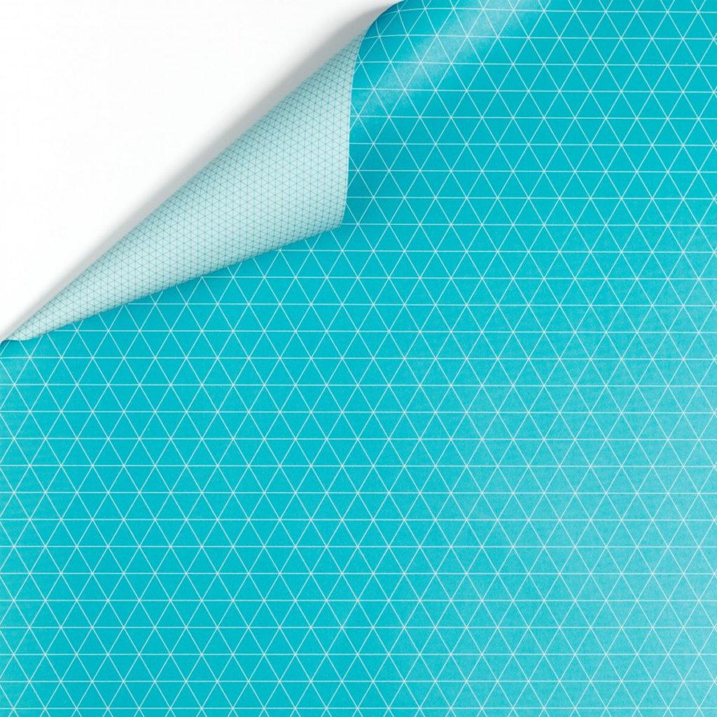 Doppelseitiges Geschenkpapier -Triangel- türkis von My Pretty Circus