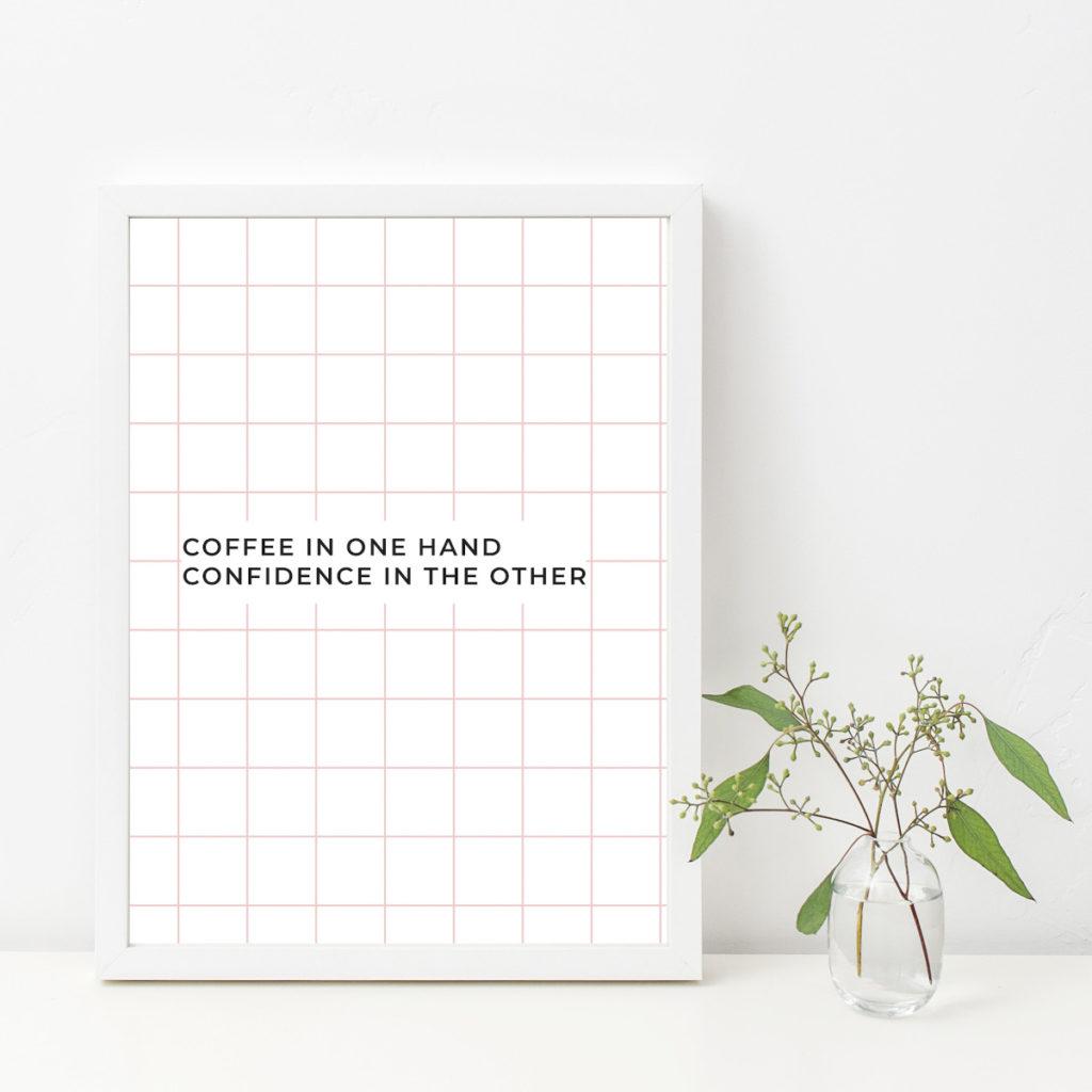 Modernes Poster / Art-Print A3 -Coffee- von the room alive