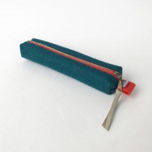 Stiftetasche -Pop- aus Wollfilz, petrolfarben von Somaj