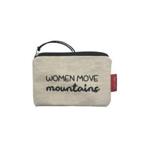 Münztasche/ kleines Täschchen -Women move mountains-, natur von hello-bags