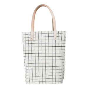 Schicker Shopper/Einkaufstasche aus Canvas mit Gittermuster von 5 mm paper