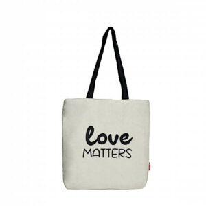 Shopper/ Tasche mit Druck -Love Matters-, naturfarben von hello bags