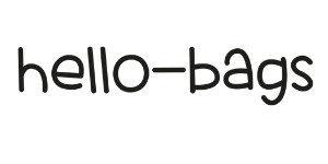 Umweltfreundliche Canvas-Taschen mit Textbotschaft von hello bags