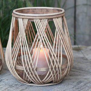 Laterne, natur aus Bambus von Chic Antique