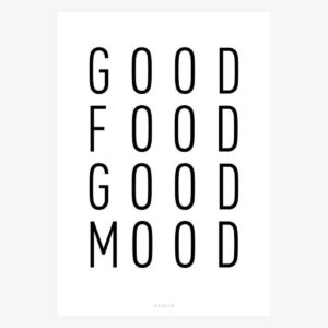 Print/ Kunstdruck -Good Food Good Mood-, A3 von typealive
