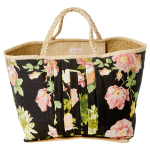Raffia-Shopper, groß -Dark-Rose- von RICE