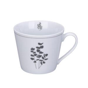 Happy Cup Tasse mit Eukalyptus-Motiv von KRASILNIKOFF